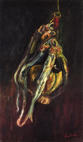 Herrings and a Bottle of Chianti, c.1917 - Chaim Soutine