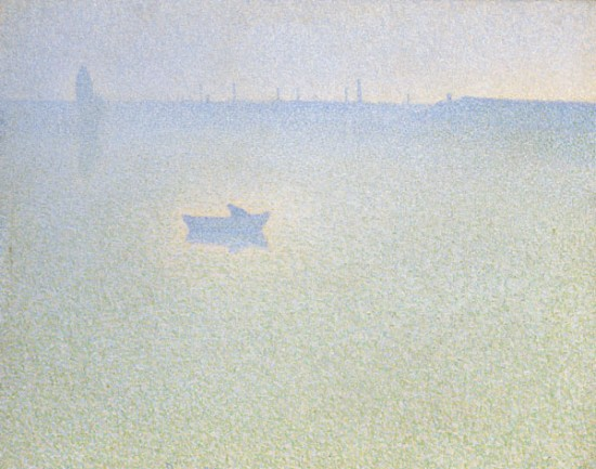 The Seine at Dawn, 1889 - Charles Angrand