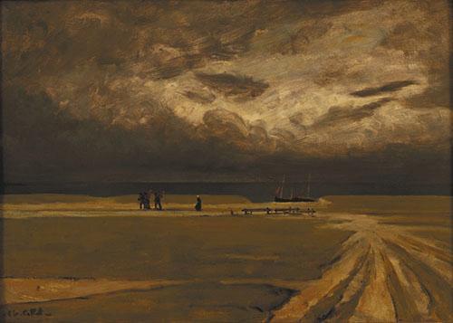 Fishermen fleeing the storm, 1893 - Charles Cottet