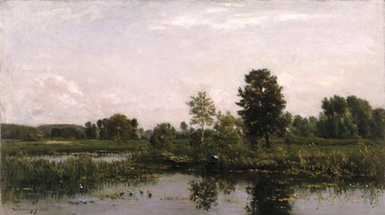 A Bend in the River Oise, 1872 - Charles-Francois Daubigny