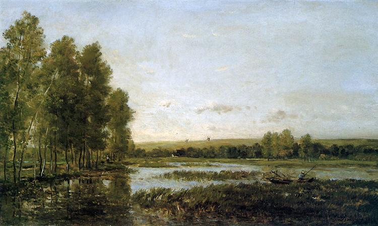 Bords de reviere Sun - Charles-Francois Daubigny