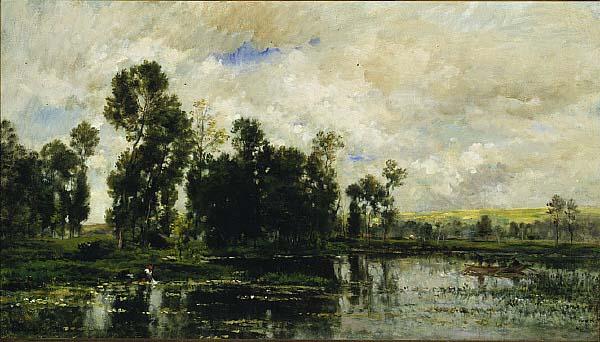 Edge of the Pond, 1873 - Charles-Francois Daubigny