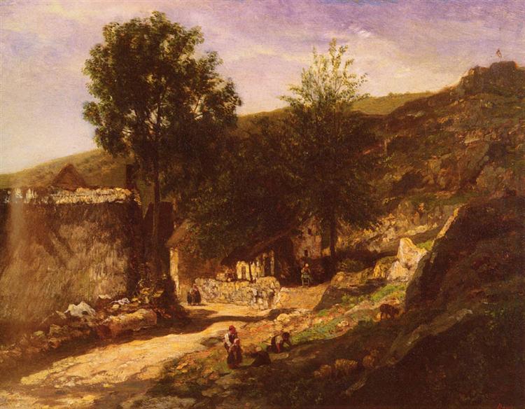 Entering The Village - Charles-Francois Daubigny