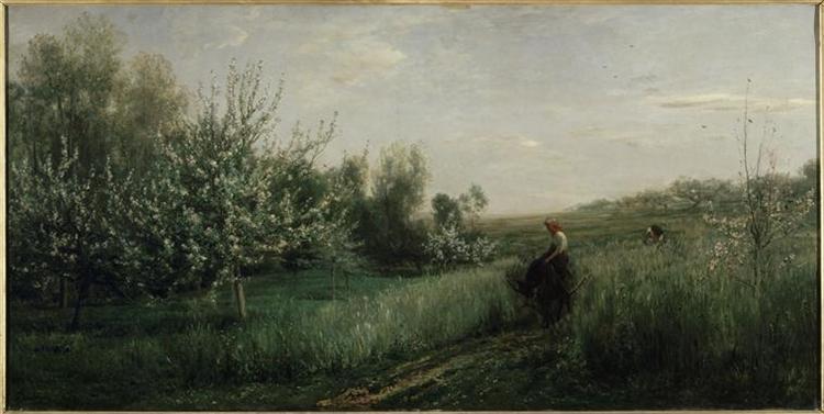 Spring, 1857 - Шарль-Франсуа Добиньї