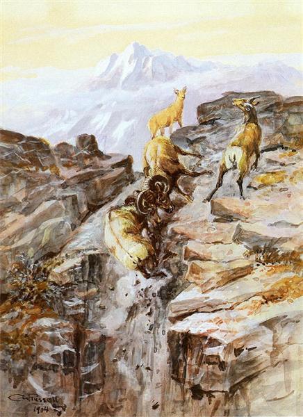 Big Horn Sheep, 1904 - Чарльз Марион Рассел