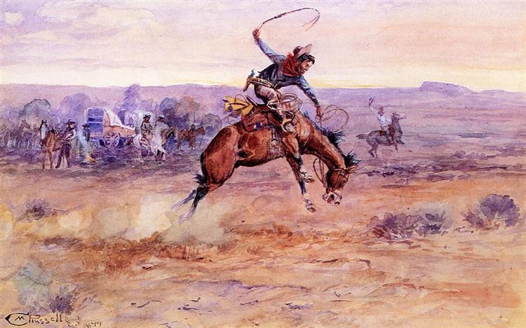 Bucking Bronco, 1899 - Charles M. Russell