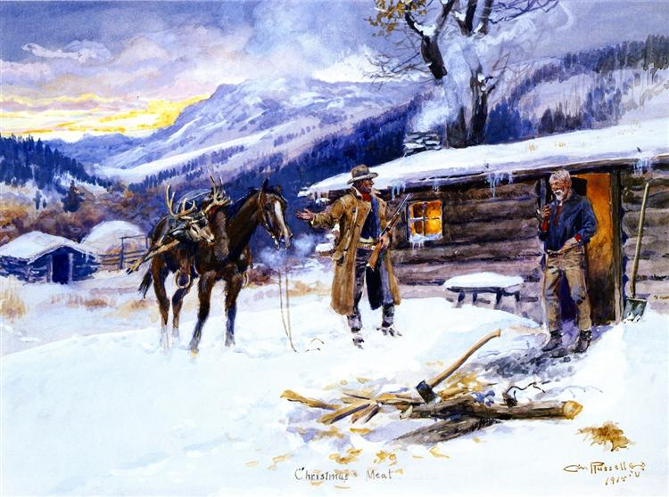Christmas Meat, 1915 - Charles M. Russell