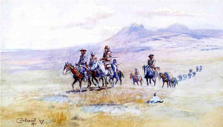 Coming across the Plain, 1901 - Charles M. Russell