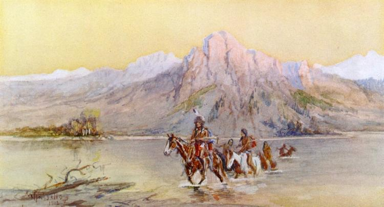 Crossing the Missouri, #1, 1902 - Charles M. Russell