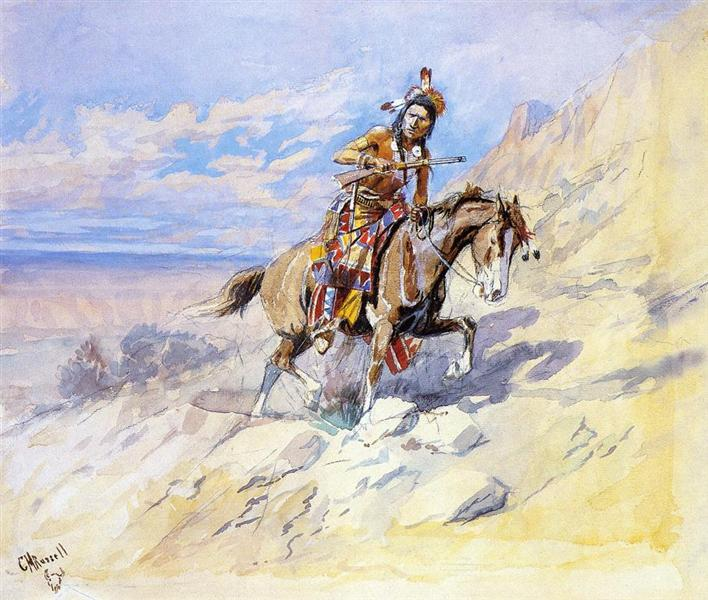 Indian on Horseback - Charles M. Russell