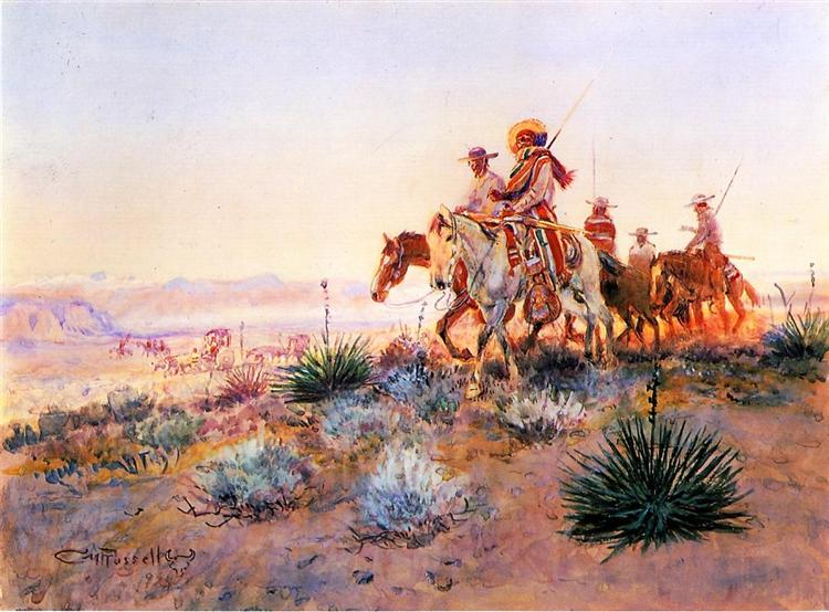 Mexican Buffalo Hunters, 1924 - Charles Marion Russell