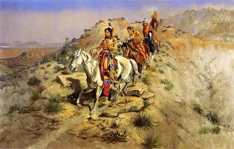 On the Warpath, 1895 - Charles M. Russell