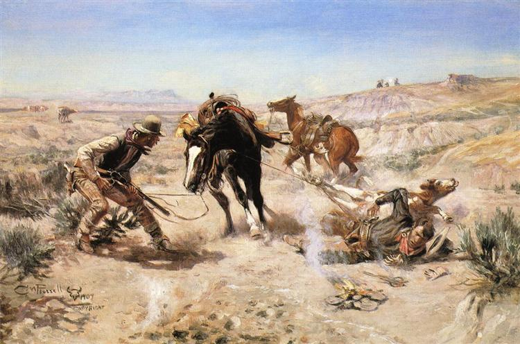 The Cinch Ring, 1909 - Charles Marion Russell