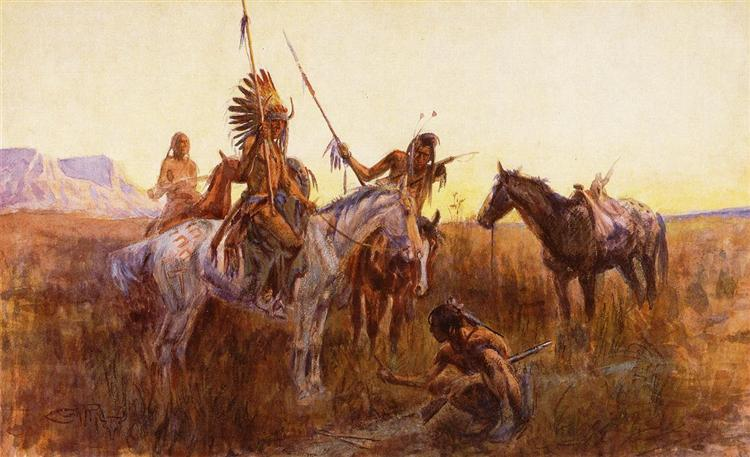The Lost Trail, 1915 - Charles M. Russell