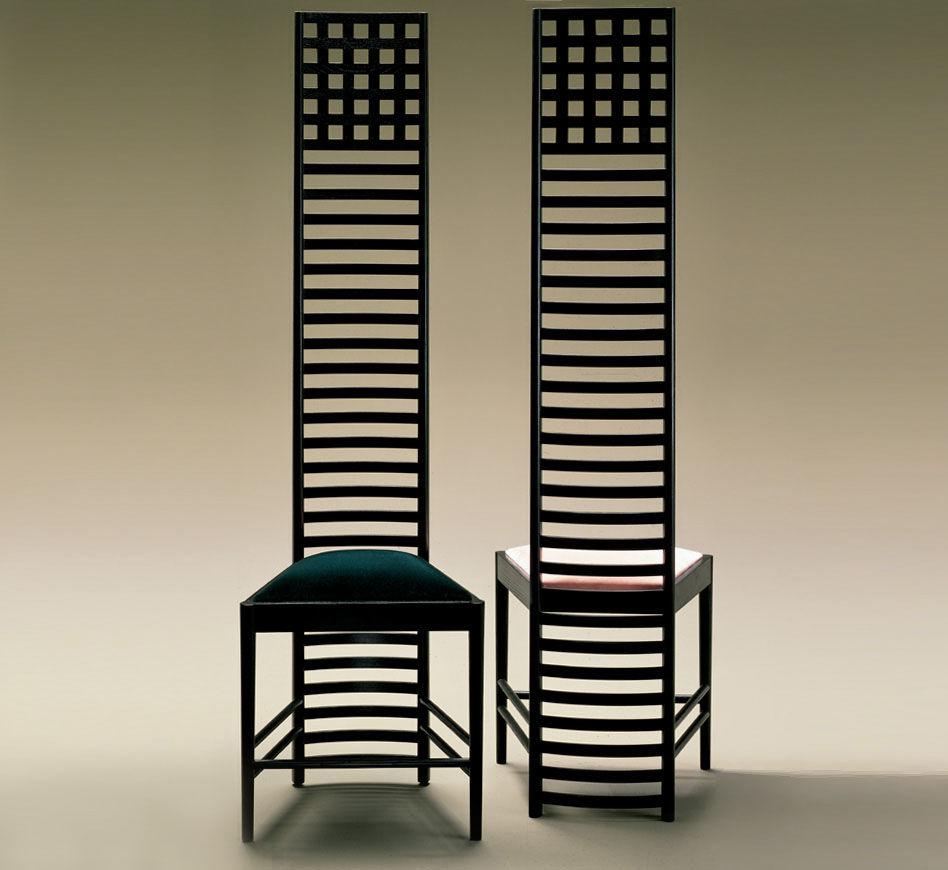 Chair design charles rennie mackintosh for Art nouveau chaise
