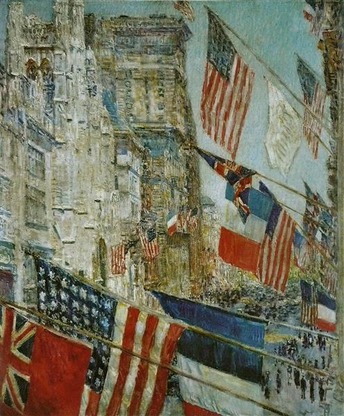 Jour des Alliés, mai 1917, 1917 - Childe Hassam