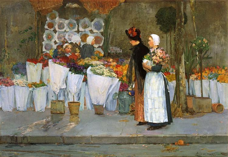 At the Florist, 1889 - Childe Hassam