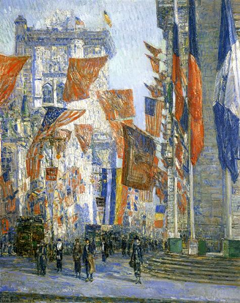 Avenue of the Allies 02, 1918 - Childe Hassam