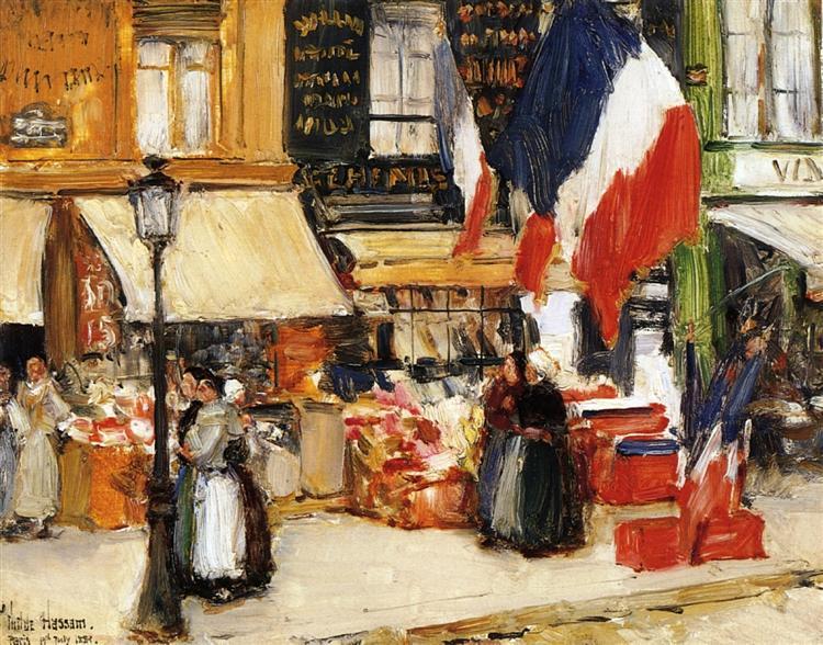 Bastille Day, Boulevard Rochechouart, Paris, 1889 - Чайльд Гассам