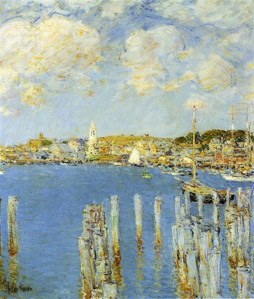 Gloucester Inner Harbor, 1899 - Чайльд Гассам