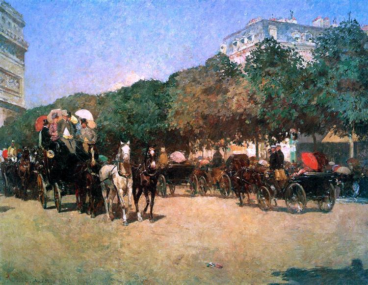 Hassam Childe Grand prix day Sun, 1887 - Childe Hassam