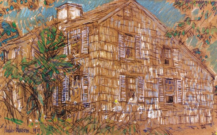 Home Sweet Home Cottage, 1917 - Childe Hassam