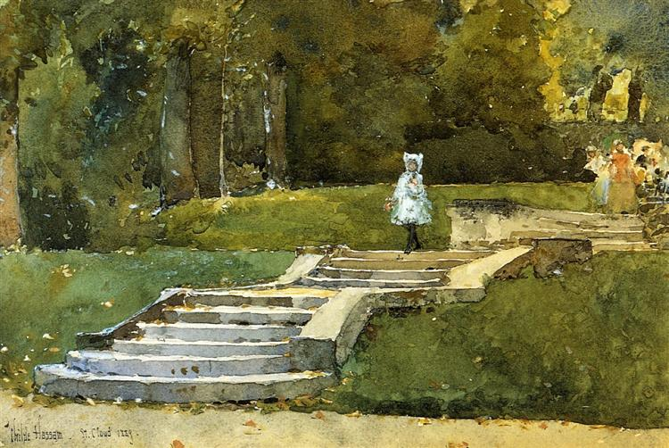 In the Park at St. Cloud, 1889 - Childe Hassam