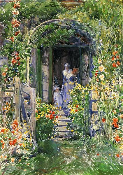 Isles of Shoals Garden (aka The Garden in Its Glory), 1892 - Childe Hassam