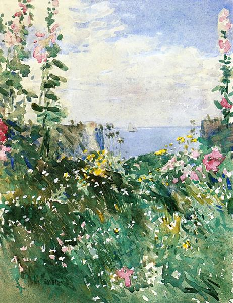 Isles of Shoals Garden, Appledore, 1895 - Childe Hassam