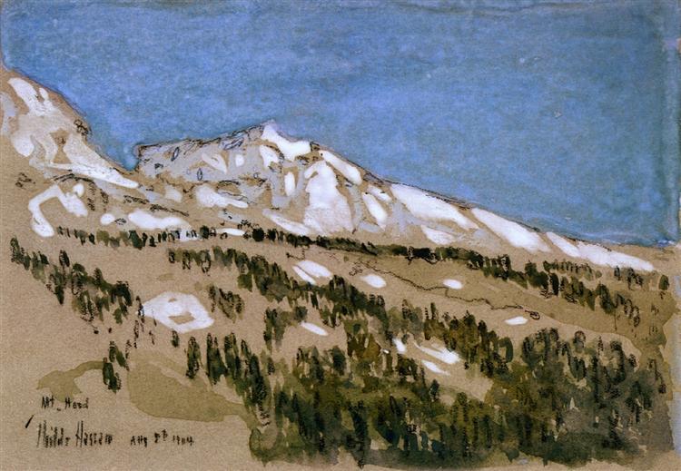 Mt. Hood (Oregon), 1904 - Childe Hassam