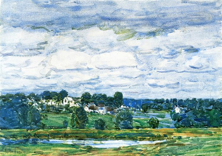 Newfields, New Hampshire, 1906 - Childe Hassam