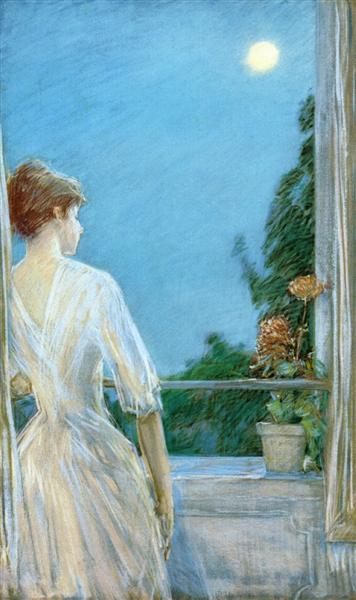 On the Balcony, 1888 - Childe Hassam