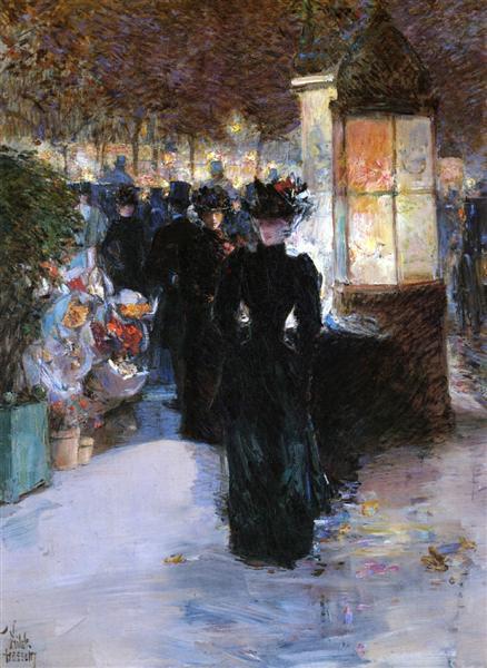 Paris Nocturne, 1889 - Childe Hassam