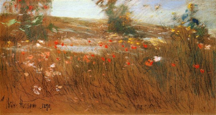 Poppies, Isles of Shoals, 1890 - Childe Hassam