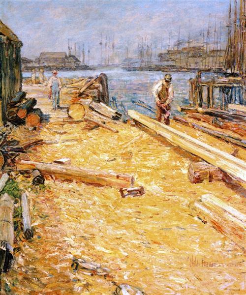 Sparyard, Inner Harbor, Gloucester, 1901 - Childe Hassam