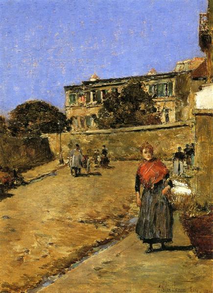 Street Scene, Montmartre, 1889 - Childe Hassam