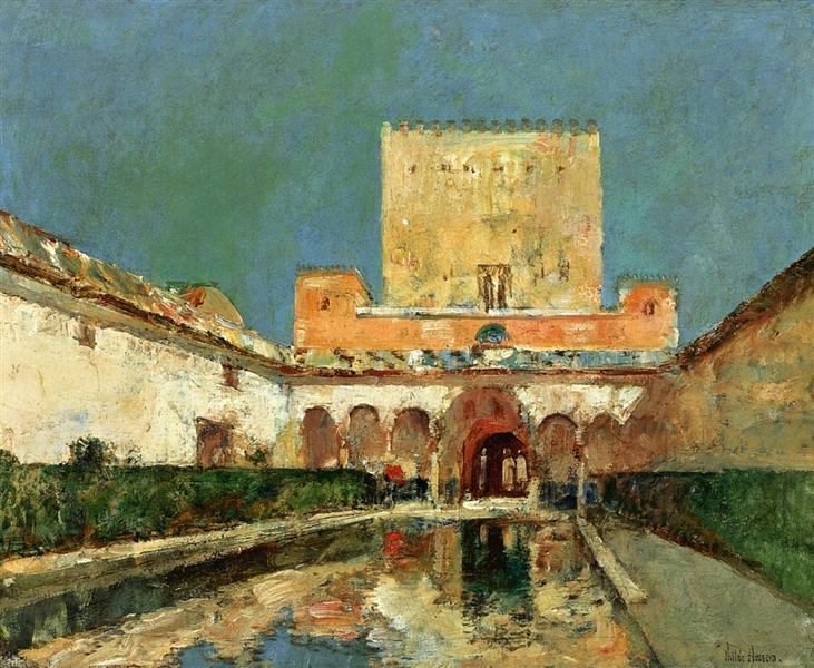 The Alhambra (aka Summer Palace of the Caliphs, Granada, Spain), 1883 - Childe Hassam