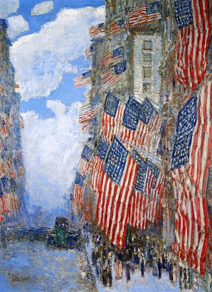 The Fourth of July, 1916 - Childe Hassam