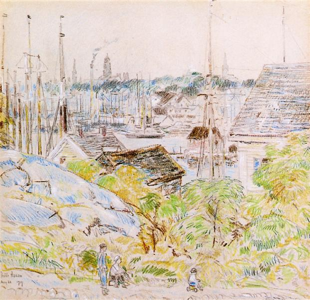 The Harbor of a Thousand Masts, Gloucester, 1919 - Childe Hassam