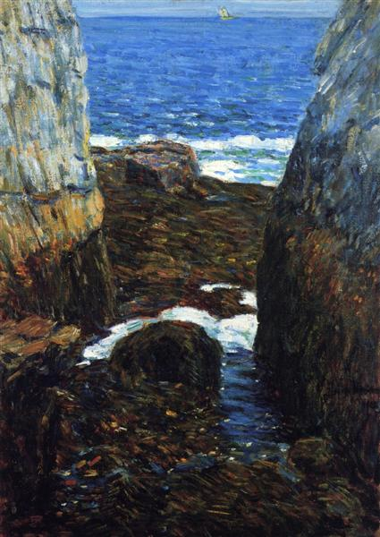 The North Gorge, Appledore, Isles of Shoals, 1912 - Childe Hassam