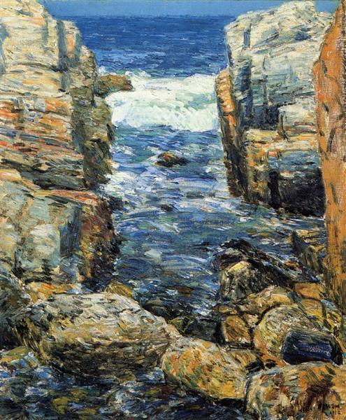 The South Gorge, Appledore, Isles of Shoals, 1912 - Childe Hassam