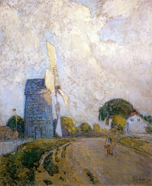 Windmill at Sundown, East Hampton, 1898 - Childe Hassam