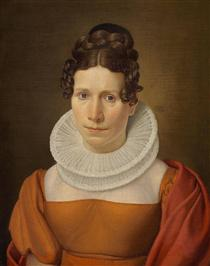 Portrait of Faktor Fjellerups Kone - Christoffer Wilhelm Eckersberg