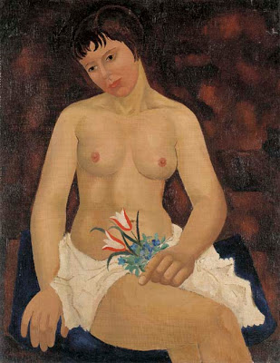 Nude with Tulips, 1926 - Christopher Wood