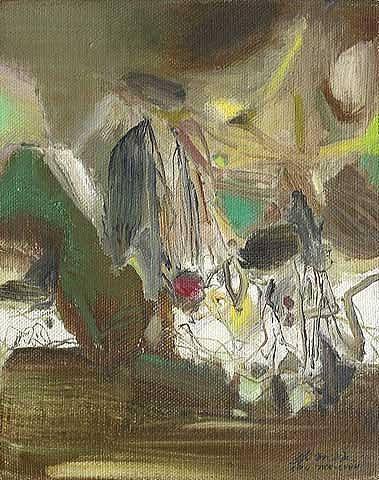 Composition, 1977 - Chu Teh-Chun