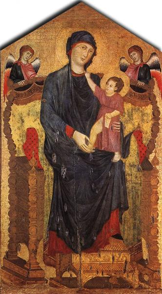 Madonna Enthroned with the Child and Two Angels, 1280 - Cimabue