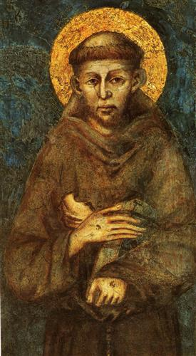 Saint Francis of Assisi (detail) - Cimabue
