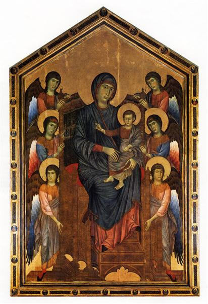 The Virgin and Child in Majesty surrounded by Six Angels, c.1270 - Cimabue
