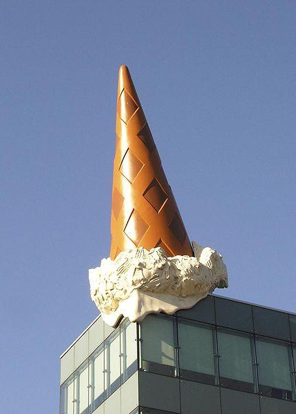 Dropped Cone (collaboration with van Bruggen), 2001 - Claes Oldenburg
