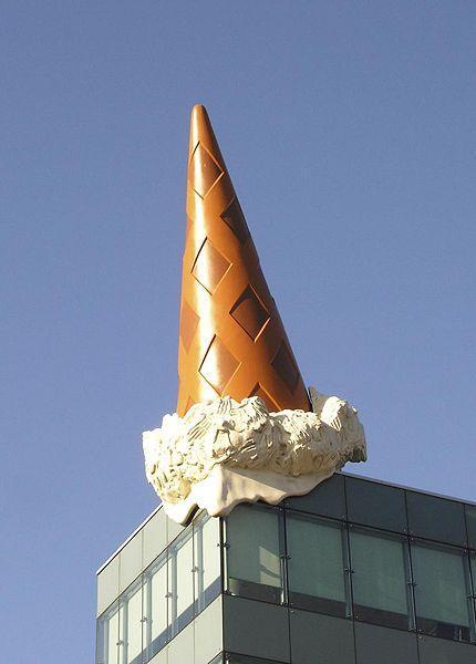 Dropped Cone (collaboration with van Bruggen), 2001 - Клас Ольденбург